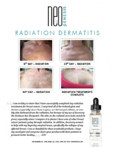 Real Results - NeoGenesis for Radiation Dermatitis