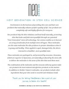 NeoGenesis - Next Generation Stem Cell Science